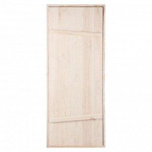 """Дверной блок для бани, 170?70см, из сосны, на клиньях, массив, """"Добропаровъ"""""""