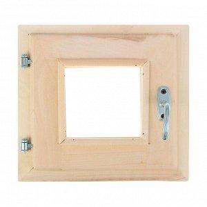 Окно, 30?30см, двойное стекло, с уплотнителем, из липы