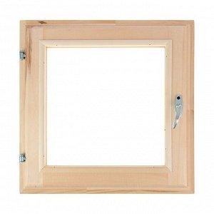 Окно, 50?50см, двойное стекло, с уплотнителем, из липы
