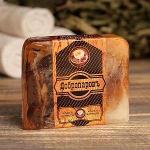 """Косметическое мыло для бани и сауны """"Кофе с корицей"""", """"Добропаровъ"""", 100 гр."""