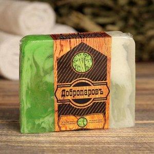 """Косметическое мыло для бани и сауны  """"Зелёный чай и стебель бамбука"""", """"Добропаровъ"""", 100 гр.   29219"""