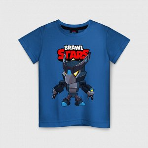 Детская футболка хлопок «BRAWL STARS CROW BLACK»