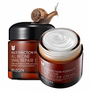 Улиточный крем для лица Mizon All In One Snail Repairing Cream, 75g