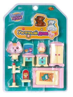 Игровой набор ABtoys Уютный дом Набор мини-мебели. Спальня890