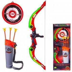 Игровой набор Junfa Лук с подсветкой со стрелами, колчаном и мишенью13