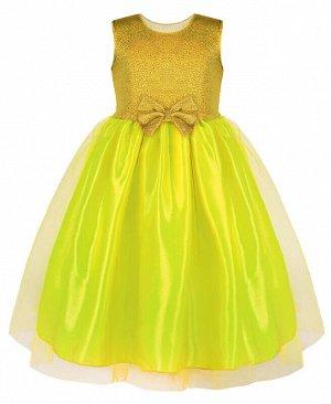Нарядное жёлтое платье с фатином для девочки Цвет: желтый