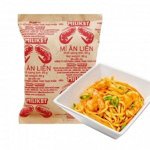 Пшеничная остро-кисло-сладкая лапша со вкусом креветки 65 гр.«Miliket»