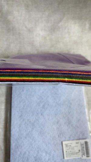 Набор листового клеевого фетра (мягкий) 1мм 20*30см.FLT-SA3 (10л.)