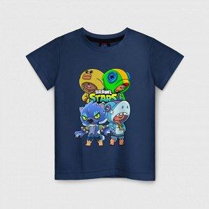 Детская футболка хлопок «Brawl Stars Leon Quattro»