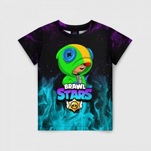 Детская футболка 3D «BRAWL STARS LEON»