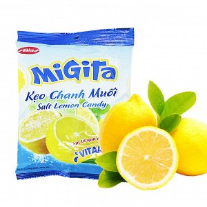 Конфеты карамельные со вкусом Лимона с солью  140 гр. Т.М.«BiBica »