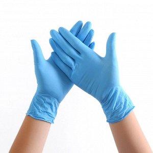 Перчатки винило-нитриловые, синий