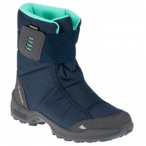 Сапоги для защиты от снега теплые водонепроницаемые женские средние SH100 X-WARM QUECHUA