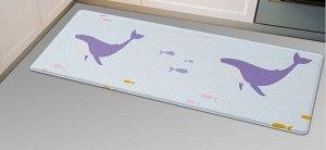 Двухсторонний ПВХ коврик для кухни и ванной Onebin Rhombus S 75*44*1.4