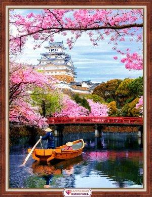 Алмазная живопись - мозаика Цветение сакуры