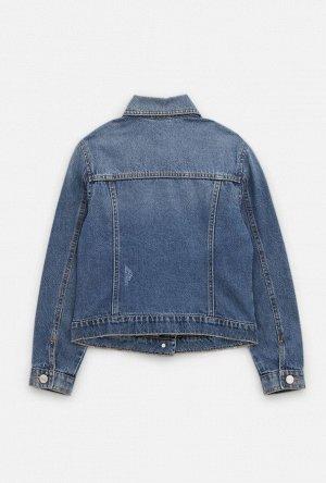 Жакет джинсовый детский для девочек Amiata синий