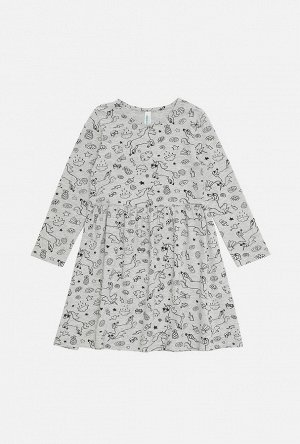 Платье детское для девочек Lygdyn серый