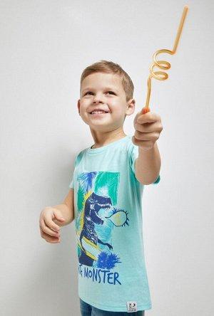 Футболка(Фуфайка) детская для мальчиков Sibas голубой