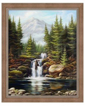 Алмазная живопись - мозаика Бурный водопад