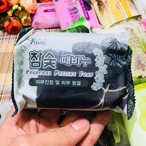 Rose Мыло-пилинг Charcoal 150гр (Древесный уголь)