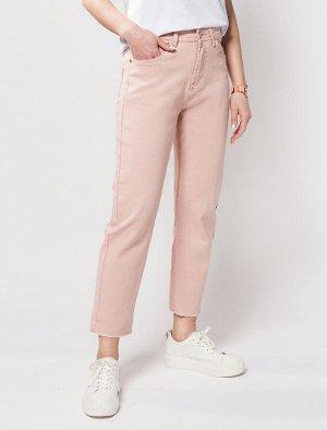 Укороченные прямые джинсы с эластаном.