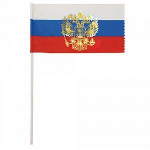 Флажок РФ с гербом