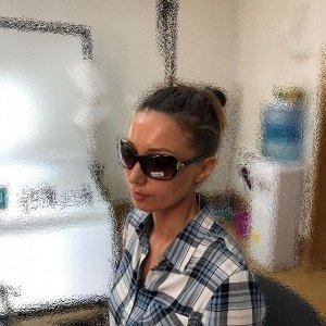 Стильные женские очки Angelis кофейного цвета.