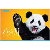 """Альбом для рисования 20л., А4, на скрепке ArtSpace """"Животные. Funny panda"""", обложка-офсет"""