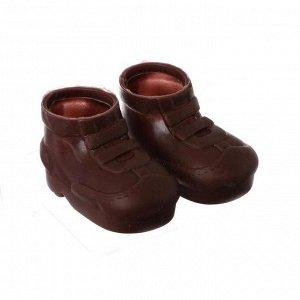 Ботинки для куклы «Липучки», длина подошвы 7,5 см, 1 пара, цвет коричневый