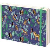 "Скетчбук - альбом для рисования 80л. B6 ""Lovely leopard"", 100г/м2, тв.обл, карман, доп.листы крафт"