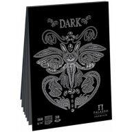 """Скетчбук - планшет 30л. А5 на склейке Лилия Холдинг """"Dark"""", 160г/м2, черный тонир.офсет"""