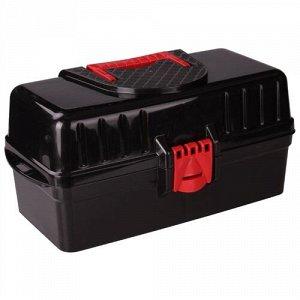Ящик универсальный с крышкой (раздвижной)(425х224х200)(черный) (Базовый)