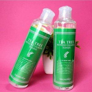 SECRET KEY Освежающий успокаивающий тонер с экстрактом чайного дерева 248 мл. TEA TREE REFRESH CALMING TONER