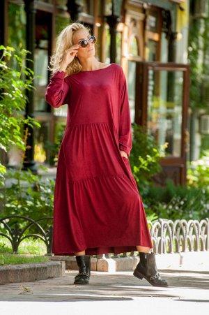 Платье 2403.86 бордовое