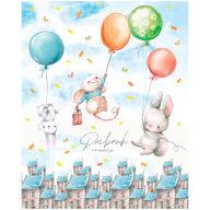 """Дневник 1-4 кл. 48л. """"Flying rabbits"""", ВД-лак"""