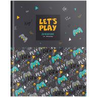 """Дневник 1-11 кл. 40л. (твердый) """"Let's play"""", матовая ламинация, выборочный лак"""