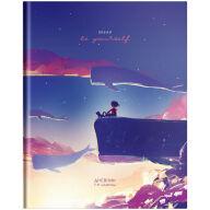 """Дневник 1-11 кл. 40л. (твердый) """"Рисунки. Girl and whales"""", глянцевая ламинация"""