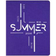 """Дневник 1-11 кл. 48л. (лайт) """"Summer"""", иск. кожа, ляссе, фольга"""