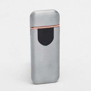 """Зажигалка электронная """"Авилес"""" спираль, сенсорная кнопка, серебристая 7.9х3.1 см"""