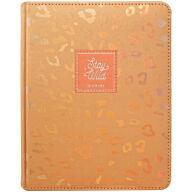 "Дневник 1-11 кл. 48л. (твердый) ""Leopard print. Orange"", иск. кожа, ляссе, тиснение"