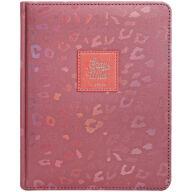 """Дневник 1-11 кл. 48л. (твердый) """"Leopard print. Pink"""", иск. кожа, ляссе, тиснение"""