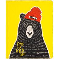 """Дневник 1-11 кл. 48л. (твердый) """"Super bear"""", иск. кожа, ляссе, печать"""