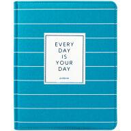 "Дневник 1-11 кл. 48л. (твердый) ""Trendy turquoise"", иск. кожа, ляссе, тиснение"