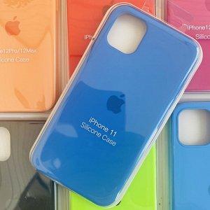 Силиконовый чехол для IPhone 11 №63 (все наклейки,лого вырезан, микрофибра,не пачкается,улучшенное качество)