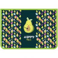 """Папка для труда 2 отделения, А4, ArtSpace """"Happy Avocado"""", пластик, на молнии"""