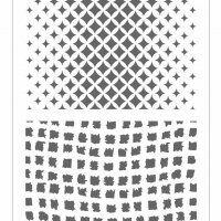 Трафарет двойной Ткань декоративный пластиковый 11,5*32см