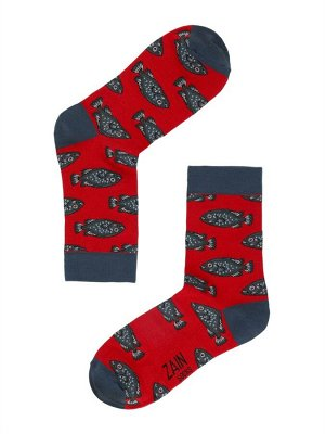 Носки Рыбы ZAIN 031 красные