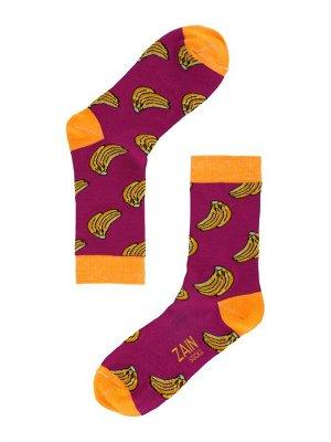 Носки Бананы ZAIN 032 т.лиловые