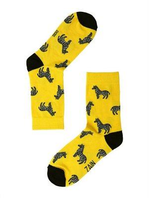 Носки Зебра ZAIN 012 желтые