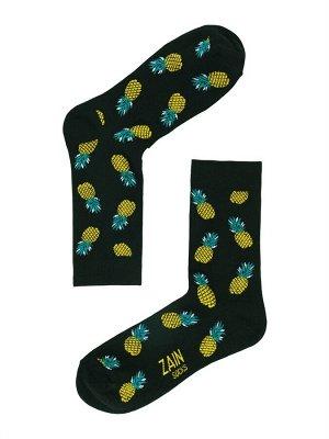 Носки Ананасы ZAIN 011 черные